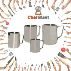 ChefGiant Stainless Steel Milk Frothing Pitcher 12 Oz & 20 Oz #ChefGiant #KitchenAccessories #Cookware #Pitcher https://www.amazon.com/ChefGiant-Stainless-Steel-Frothing-Pitcher/dp/B01M6CRPFF/ref=sr_1_30?m=A1HS8SYJN3R6YF&s=merchant-items&ie=UTF8&qid=1491893375&sr=1-30&refinements=p_4%3AChefGiant  https://www.amazon.com/ChefGiant-Espresso-Stainless-Frothing-Certified/dp/B01M75216S/ref=sr_1_10?m=A1HS8SYJN3R6YF&s=merchant-items&ie=UTF8&qid=1491893351&sr=1-10&refinements=p_4%3AChefGiant