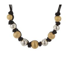 Arte d'Argento Two-tone Sterling Bead Knotted Cord Necklace-i got this at full price, on sale now