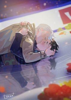 Yuuri Katsuki x Victor Nikiforov Victuuri - Yuri on ice Me Anime, Fanarts Anime, Anime Guys, Manga Anime, Katsuki Yuri, Yuuri Katsuki, Fan Fiction, Viktor X Yuri, Manhwa