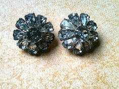 Wedding Vintage rhinestone earrings unsigned by JNPVintageJewelry