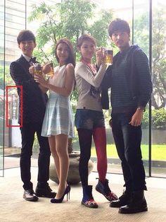 """Aaron Yan, Tia Li, Jack Li, and Katherine Wang from the Taiwanese drama """"Fall In Love With Me"""""""