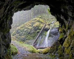 This Short Hike In Oregon Leads To A Hidden Waterfall And An Eerie Abandoned Mine