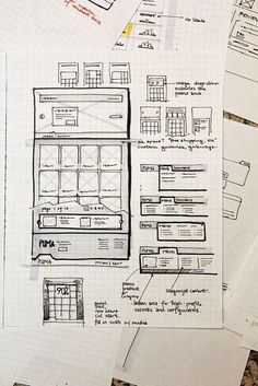 Sketched Wireframe by Todd_Moy on Flickr