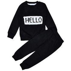 a13119e2be40 Newborn Clothing Set Spring Autumn Baby Boys Girls Letter Tracksuits  Toddler Sport Suit Children Top T shirt + Pants Clothes Set