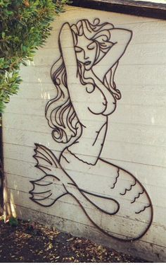 Love this! Mermaid rebar sculpture by Rebarded on Etsy