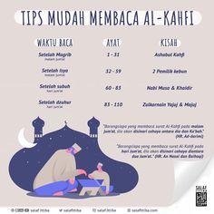 "Ittiba`u Rasulillah ﷺ on Instagram: ""Tips mudah membaca Al-Kahfi. Semoga bermanfaat. ➖➖➖➖➖➖➖➖➖ 📺 Twitter : salafittiba 🖥 Youtube : salaf ittiba 🌏 Web : salafittiba.com 💻…"" Hijrah Islam, Doa Islam, Islam Religion, Hadith Quotes, Muslim Quotes, Reminder Quotes, Self Reminder, Quran Quotes Inspirational, Motivational Quotes"