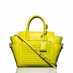 Yellow Perforated Handbag Reed Krakoff Mini Atlantique