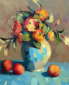 My Favorite Vase by Trisha Adams Oil ~ 20 x 16 painting Selling Paintings, Paintings I Love, Beautiful Paintings, Art Paintings, Academic Drawing, Floral Artwork, Guache, Abstract Flowers, Vase Of Flowers Painting