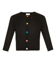 REDValentino Button-through cropped knit cardigan