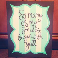 Custom Painted Quote Canvas #jillsjems