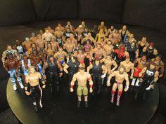 WWE Mattel Basic 57 piece Figure Set Lot -USED Cena, New Day, Shield, Undertaker #Mattel