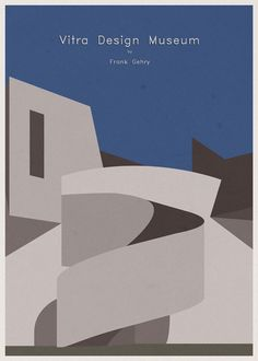 ARCHITECTURE - Germany - Vitra Design Museum - Poster Artwork by André Chiote