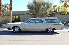 Mid Century Home with 1964 Chrysler New Yorker station wagon, Palm Springs California