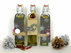 flavoured olive oil - Christmas present idea for Eye Christmas Presents, Christmas Ideas, Flavored Olive Oil, Simple Birthday Cards, 3rd Eye, Die Cut Cards, Congratulations Card, Flower Images, Crafty Projects