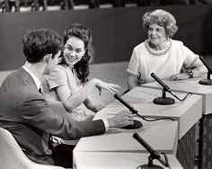 Dorothy Fuldheim with David and Julie Nixon Eisenhower year?