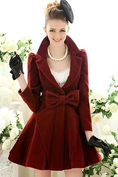 maroon with a bow.