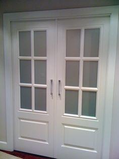 Puertas correderas de salón Door Design Interior, Interior Doors, Partition Door, Steel Gate Design, Folding Doors, Glass Door, French Doors, Home Deco, Interior Design Living Room