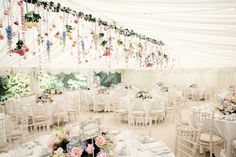 Suspended flowers LOVE this. 9-super-styling-tips-to-give-your-marquee-maximum-impact-jasminephotography.co.uk