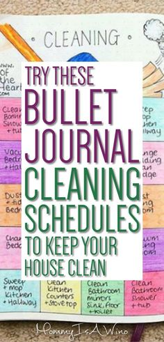 Try These Bullet Journal Cleaning Schedules to Keep Your House Clean
