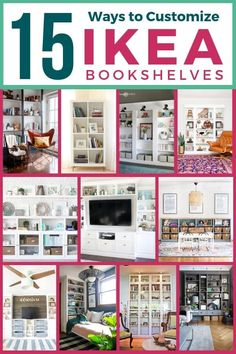 IKEA book shelf hacks are a game changer! If you love built ins but are scared of the price tag, check out these customized IKEA pieces. You will not believe how amazing a Billy book case hack can look. These 15 tutorials will inspire you to create your own IKEA built in bookshelves! #IKEAhack #IKEAbuiltins #IKEAbookshelfhacks #IKEAbillybookcase #IKEAbillybookcaseideas #IKEAbillybookcasewithdoors #IKEAbillybookcasestorage #IKEAbookshelves #IKEAbillybookcasebuiltins