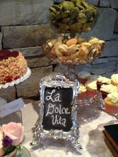 sign for sweets table