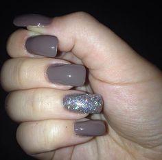 Brown Glitter Nails ❤️