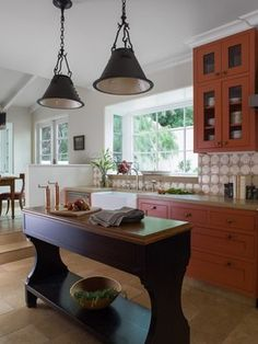 Hillsborough - mediterranean - kitchen - san francisco - Melanie Coddington  Narrow island option