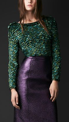 This embroidered feather bodysuit by Burberry is too lovely Look Fashion, Fashion Details, High Fashion, Autumn Fashion, Luxury Fashion, Womens Fashion, Fashion Trends, Fashion Sets, Look Chic