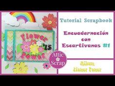 TUTORIAL: #1 Encuadernación con ESCARTIVANAS (Álbum Flower Power) - YouTube Tutorial Scrapbook, Crafts For Kids, Frame, Attic, Youtube, Scrapbooking, Ideas, Paper, Tutorials
