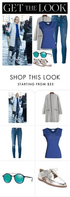 """GIGI HADID"" by the-fashion-baby ❤ liked on Polyvore featuring Frame, Velvet by Graham & Spencer, Ray-Ban and Loeffler Randall"