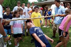 Outdoor Party Games for Kids Limbo and long jump