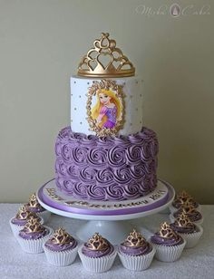 3 tier pastel princess cake with handmade rose – Artofit Rapunzel Torte, Bolo Rapunzel, Rapunzel Birthday Cake, Disney Princess Birthday Cakes, Tangled Birthday Party, Disney Birthday, Birthday Cake Girls, Birthday Parties, Princess Cakes