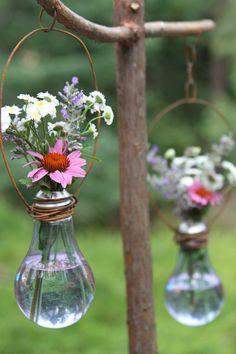 Single flower in light bulb.
