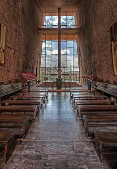 Interior of the Chapel of the Holy Cross, Sedona, AZ.