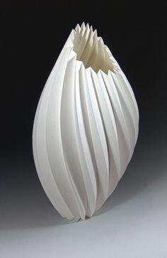 Sandstorm by Delbert Jackson, Cotton Fiber paper, Acrylic Media Sculptures Céramiques, Sculpture Art, Kirigami, Origami Paper Art, Paper Crafts, Paper Structure, Paper Architecture, Paper Engineering, Origami Design