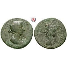 Römische Provinzialprägungen, Kilikien, Hieropolis Kastabala, Faustina II., Frau des Marcus Aurelius, Bronze, ss: Kilikien,… #coins