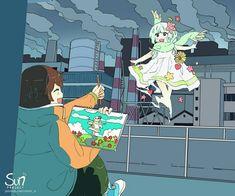 Mimi N are creating SUN Project - Fanart - Critique Dark Art Illustrations, Illustration Art, Sad Anime, Anime Art, Sun Projects, Sad Drawings, Arte Obscura, Deep Art, Sad Pictures