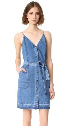 37d3e4f69144c6 Carmela Sleeveless Released Hem Dress. SHOPBOP. Wrap Tie DressDenim Overall  ...
