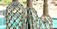 Ballard Designs Rope Wine Bottle Knock Off   Wine Bottles, Ropes and Wine