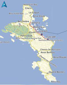 Felicite Island Map Seychelles Seychelles GPS Map Garmin