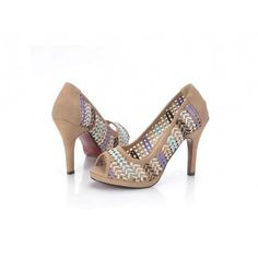 Intreccio - Scintillante Shop Peeps, Peep Toe, Beige, Shoes, Fashion, Moda, Zapatos, Shoes Outlet, Fashion Styles