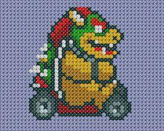 Bowser Kart cross stitch by ~drsparc on deviantART