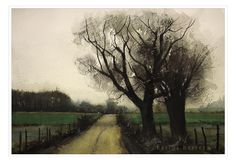 Fields in Muted Light. A watercolor painting by Carlos Herrera. Watercolor Paintings, Painting, Art, Gouache Art, Gouache