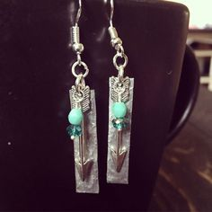 A personal favorite from my Etsy shop https://www.etsy.com/listing/505522244/hammered-earrings-aluminum-jewelry