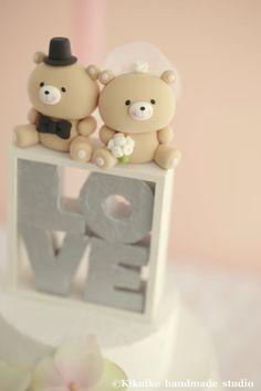 Lleva La Torta De Bodak926 Por Kikuike En Etsy Bear WeddingWedding Cake ToppersWedding