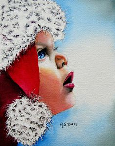 Dear Santa Painting by Maria Barry - Dear Santa Fine Art Prints and Posters for Sale