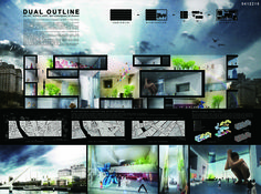 [A3N] : The New Contemporary Art Museum in Buenos Aires ( 3rd prize : Dual Outline )/ Omura Takuya , Aoyama Takahiro (Japan)