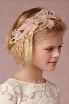 Gardenette Flower Girl Halo from @BHLDN