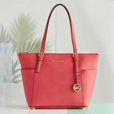 The perfect pink leather tote bag – we're tickled.