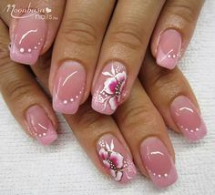 63 Ideas nails summer french simple The Effective Pictures We Offer You About nail natural ku Fancy Nails, Trendy Nails, Finger Nail Art, Elegant Nails, Gel Nail Designs, Nails Design, Super Nails, Fabulous Nails, Flower Nails
